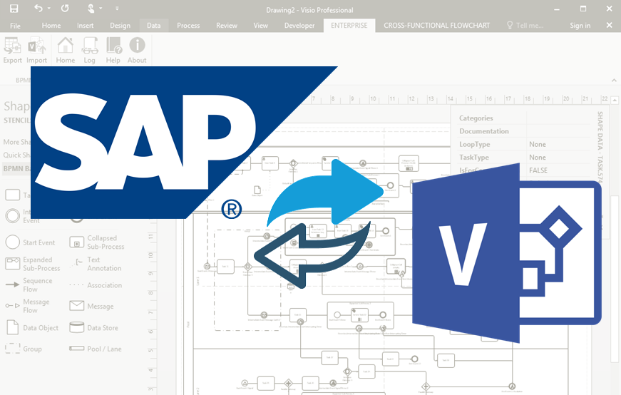 Visualize and publish SAP process with Microsoft Visio